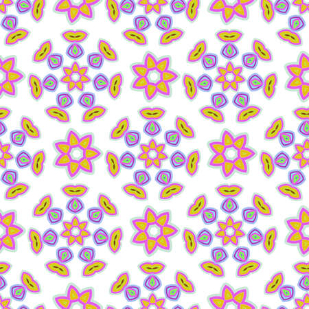 Abstract seamless pattern. Delicate pastel colors and stylized floral motifs for printing on fabric, wrapping paper and children's product.