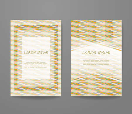 Business card with sample text. identity template set, invitation design collection, abstract pattern for booklet layout. 矢量图像