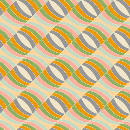 Seamless pattern in abstract style. Stylish graphic geometric background, line art illustration.