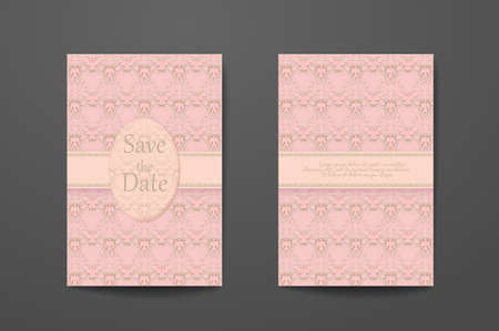 Business card with sample text. Flyer identity template set, invitation design collection, abstract pattern for booklet layout. 矢量图像
