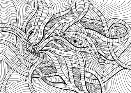 Abstract surreal vector background can use for posters cards, stickers, illustrations, t-shirt art, as decorative element.