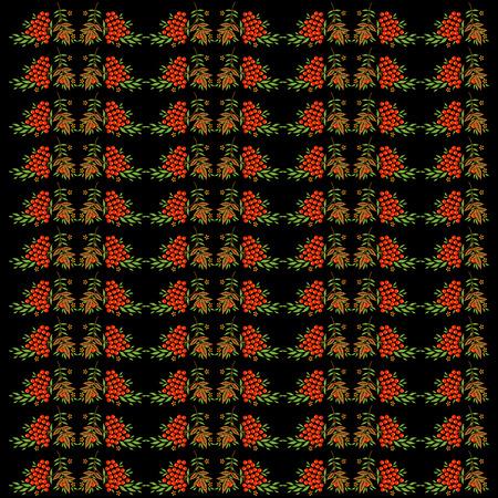 khokhloma: Decorative vector seamless background with elements of Khokhloma painting Illustration