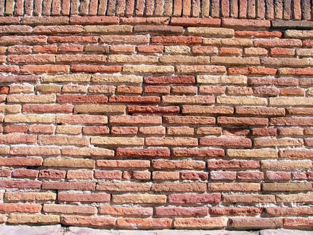 brick wall in red tones. Great texture background