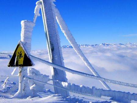 snow warning signal photo