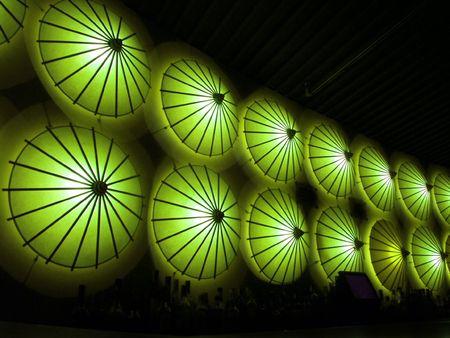 restaurant decoration in green