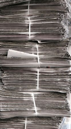 lot of newspaper packeted
