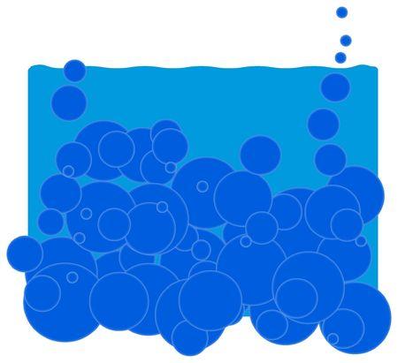 water background illustration Stock Photo