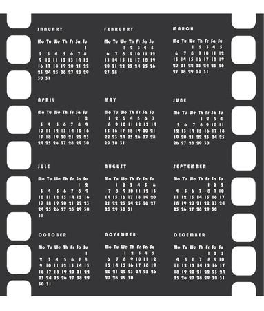 2006 calendar vector imitating a negative film. Color as you wish Vector