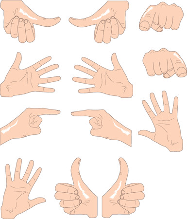 hands in different positions Illustration