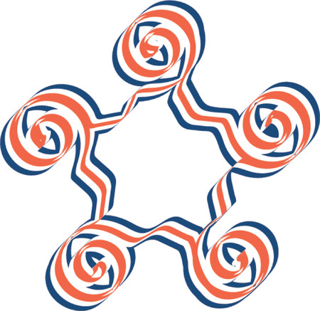 red and blue star illustration Stock Vector - 410129