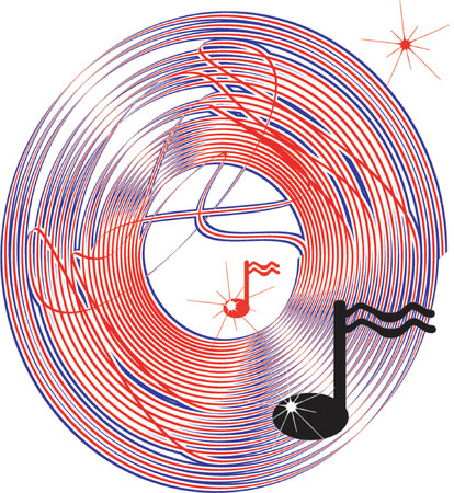 sheetmusic: music never stop Illustration