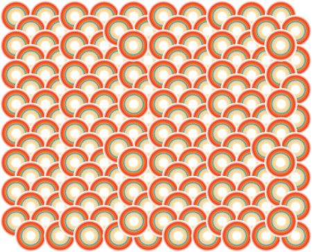 disordered: background made of circles