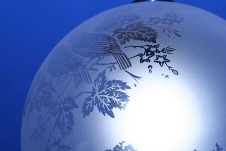 detail of a lamp with blue background photo
