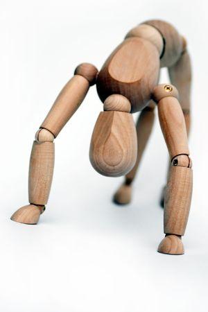 flink: Holz manequin sportlichen