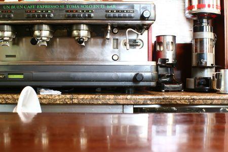 coffee machine in a bar or restaurant.