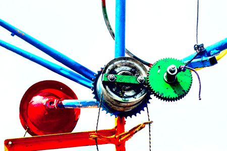 conjoin: colorful wheels in iron