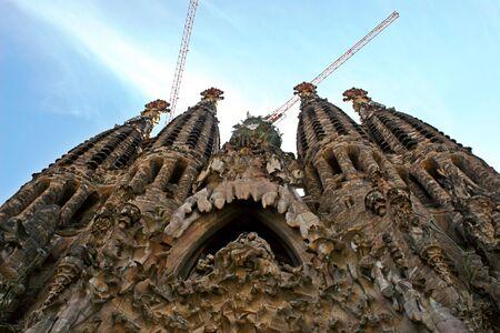 La Sagrada Familia church in Barcelona, Catalonia, Spain.