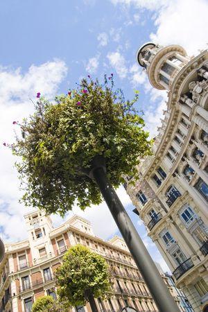 Urban furniture in Madrid Stock Photo