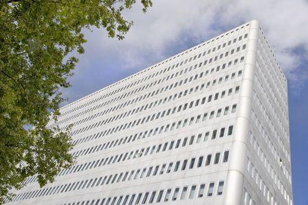 Modern metallic building in Madrid