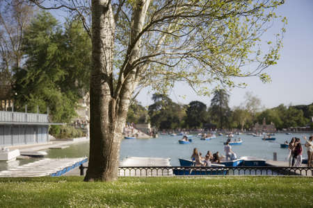 People enjoying at the Retiro photo