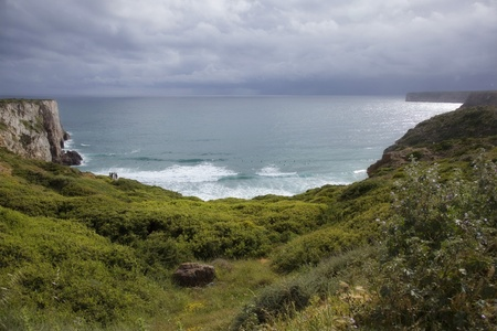 Portugal   Vicentin coast  Stormy day beautiful colors
