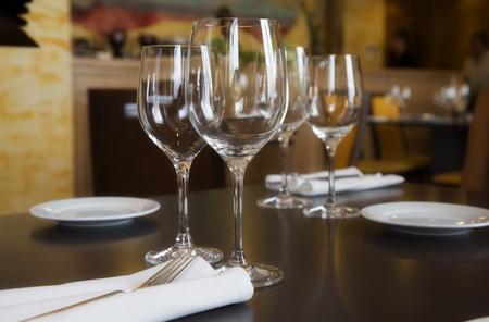 restaurant table setting in spain