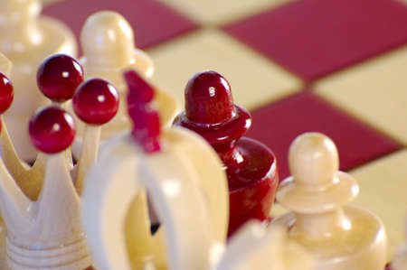 A chess piece placed on the wrong team Stock Photo - 5332675
