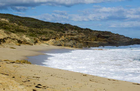 View of a secluded beach Stock Photo