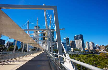 Kurilpa bridge, Brisbane, Australia Stock Photo