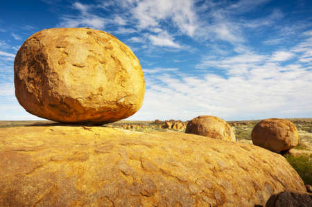 The Devils Marbles in the Northern Territory of Australia are a geological marvel. photo