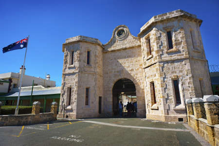Main entry to the Fremantle Prison. Stock Photo