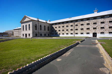 A view of the Fremantle Prison cell block. Stock Photo