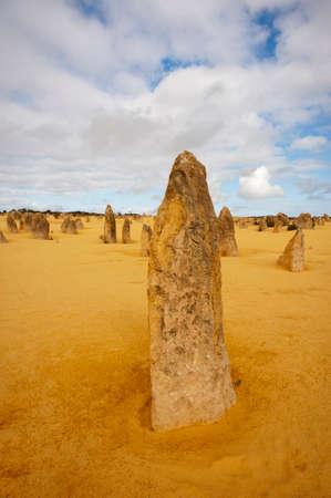 eroded: The Pinnacles Desert in Nambung National Park, Western Australia.