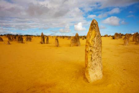 The Pinnacles Desert in Nambung National Park, Western Australia.