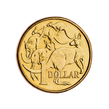 australian: Australian 1 dollar coin Stock Photo