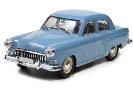 russian car: Model of russian car on a white background, side view