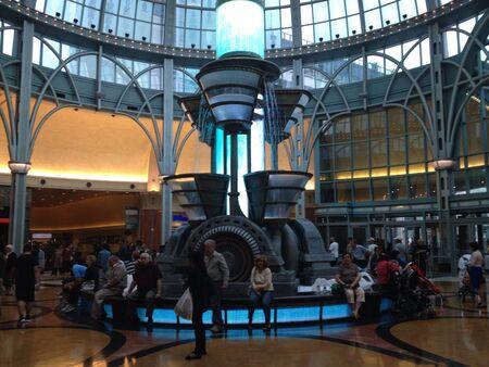 Fontein casino Stockfoto
