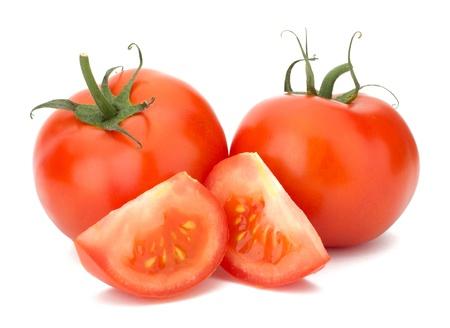 Ripe Tomato isolated on white background photo