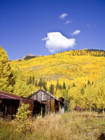 mineros: Antiguo mineros de plata en el pa�s de casas de alto de Ouray Colorado