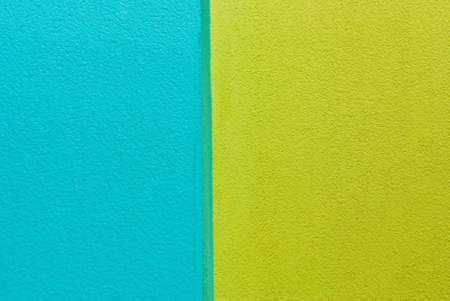 Lime and aqua painted wall