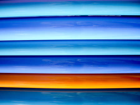 Lines of blue colors with yellow