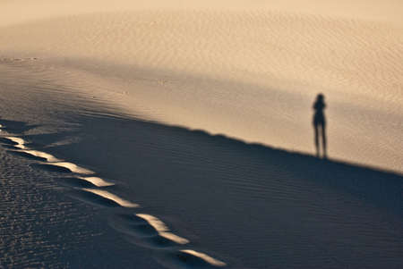 stovepipe: Shadow play at Stovepipe Wells in Mesquite Flats
