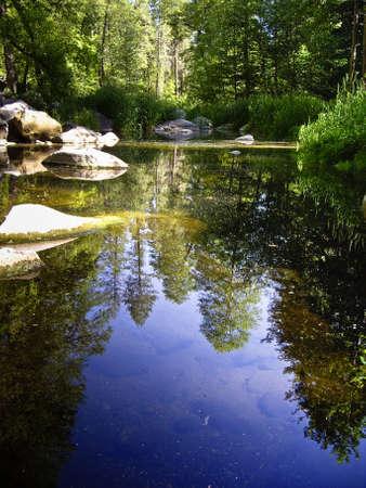 river stones: Reflections on Oak Creek, Arizona