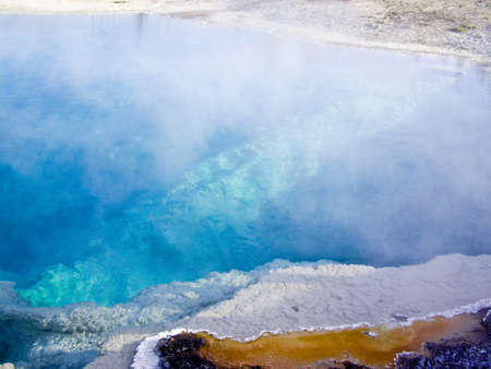 creates: Algae creates color in Yellowstone Stock Photo