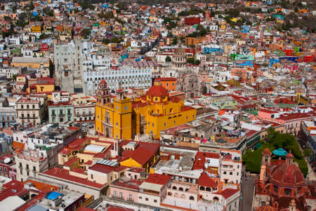 mexico city: Aerial vista of vibrant Guanajuato Mexico