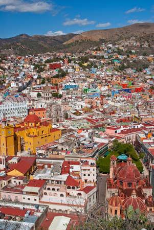 Hillside colonial town Guanajato Mexico photo