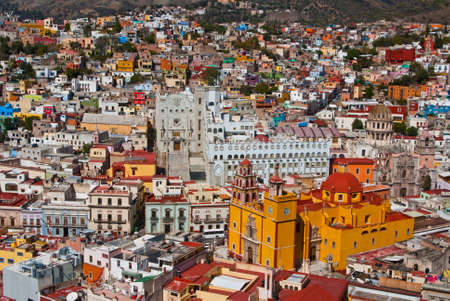 Colonial architecture on grand scale in Guanajuato Mexico