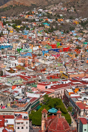 Colorful houses on hillside in Guanajuato Mexico photo