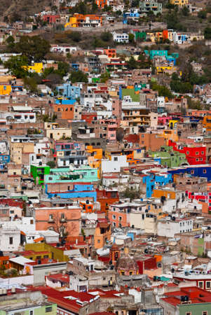 Guanajuato a town of colorful houses built on a hillside Mexico