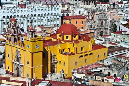 colonial church: Architecture of colonial Guanajuato Mexico Stock Photo